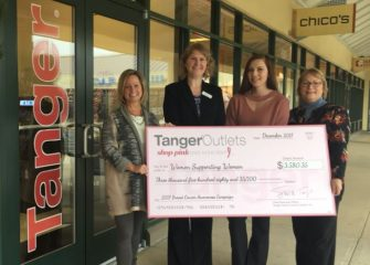TANGER OUTLETS OCEAN CITY DONATES TO WOMEN SUPPORTING WOMEN!