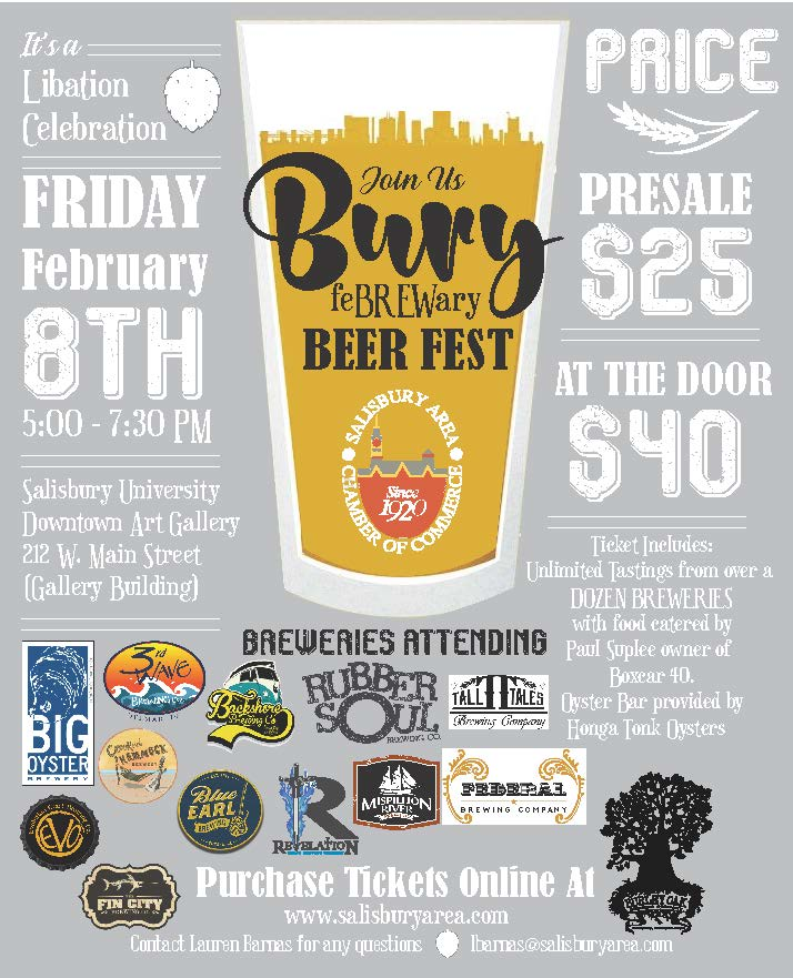 FeBREWary Bury Beer Fest Coming February 8!
