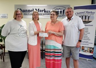 ESBLN/SACC Presents Check to Channel Marker