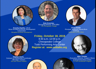 SED Talks 2019 scheduled for October 18th at the Todd Center, Chesapeake College