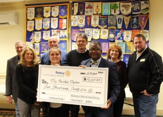 Rotary Clubs Donate $10,000 To Salisbury's Christian Shelter