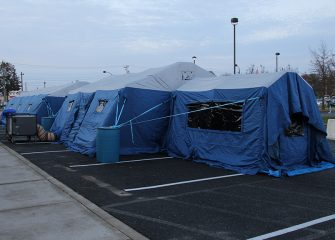 PRMC Establishes Portable Hospital Outside Emergency Department