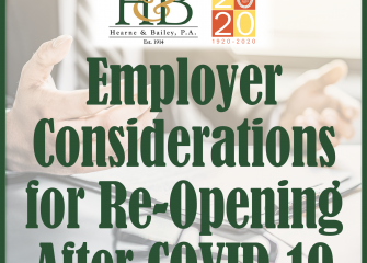 Employer Liability Considerations for Re-Opening After COVID-19