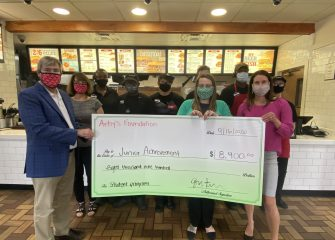 Local Arby's Presents $8,900 Grand To Junior Achievement