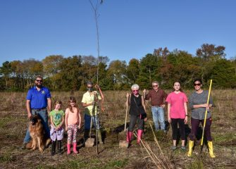 County Officials and Volunteers Hold Tree Planting at Pirate's Wharf Property