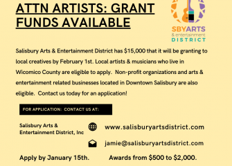 Salisbury Arts & Entertainment District Announces COVID19 Grants for Artists